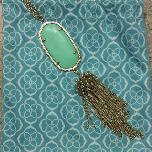Teal Kendra Scott Danielle long necklace